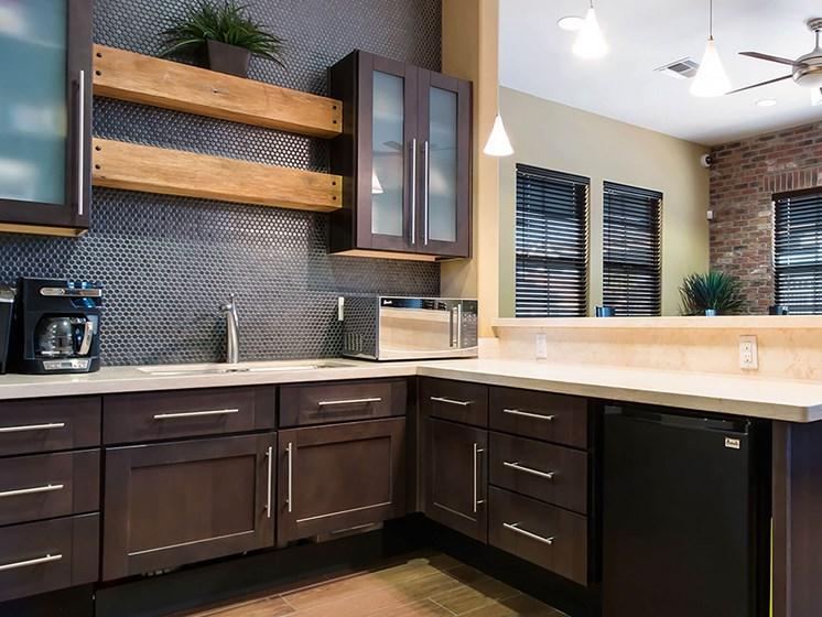Clubhouse kitchenette-The Symphony Apartments Phoenix, AZ