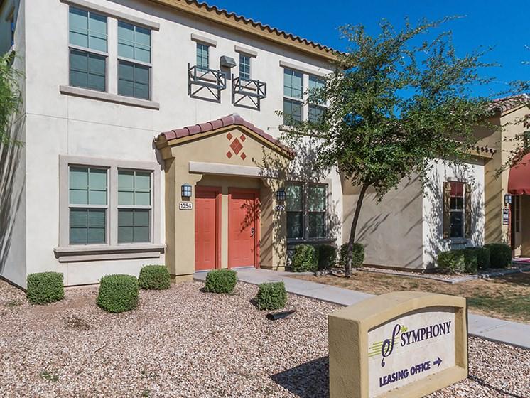 Leasing office exterior-The Symphony Apartments Phoenix, AZ