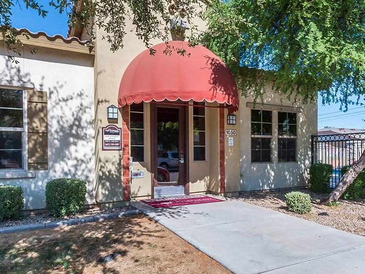 Leasing office entrance-The Symphony Apartments Phoenix, AZ