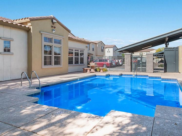 Outdoor pool-The Symphony Apartments Phoenix, AZ