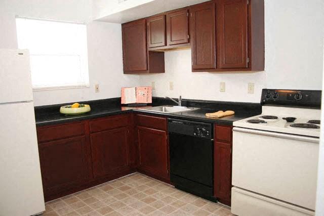 Apartment kitchen-Preservation Square, St. Louis, MO