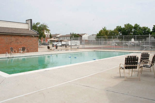 Outdoor pool area-Preservation Square, St. Louis, MO