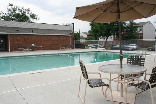 Outdoor pool with pool tables-Preservation Square, St. Louis, MO