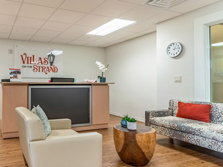 Leasing office lobby-Villas on the Strand, Galveston, TX 77550