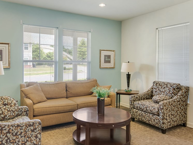Clubhouse lobby-Metropolitan Village and Cumberland Manor Apartments, Little Rock, AR