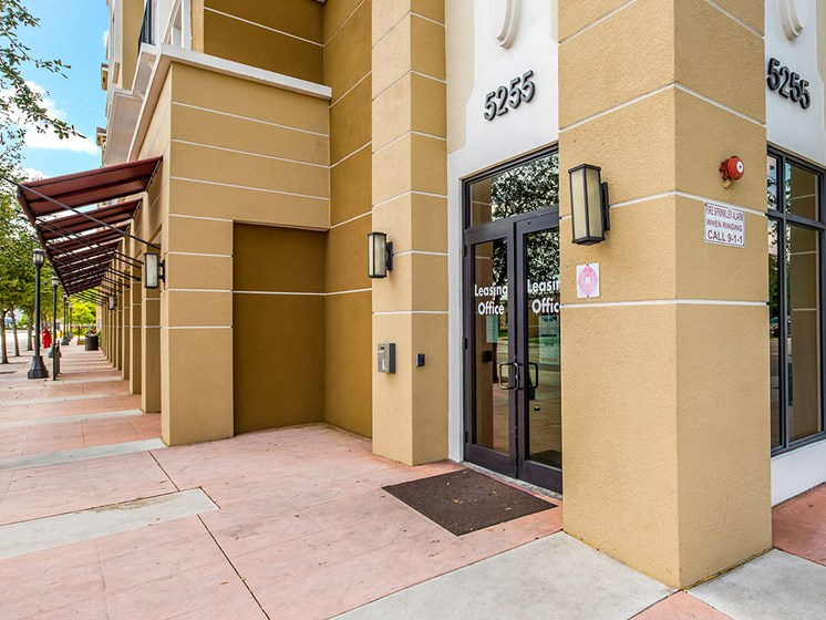 Apartment community street entrance-Metropolitan Village and Cumberland Manor Apartments, Little Rock, AR