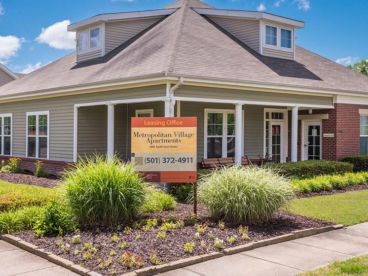 Exterior Leasing Office-Metropolitan Village and Cumberland Manor Apartments, Little Rock, AR