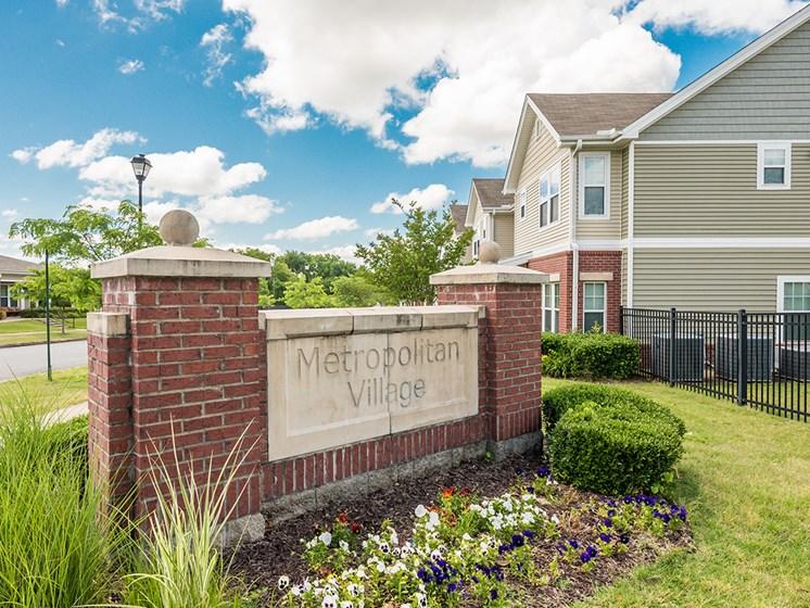Property Entrance Sign-Metropolitan Village and Cumberland Manor Apartments, Little Rock, AR