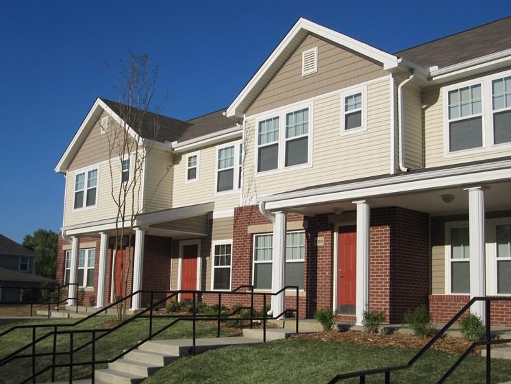 Apartment building exterior entrance-Metropolitan Village and Cumberland Manor Apartments, Little Rock, AR