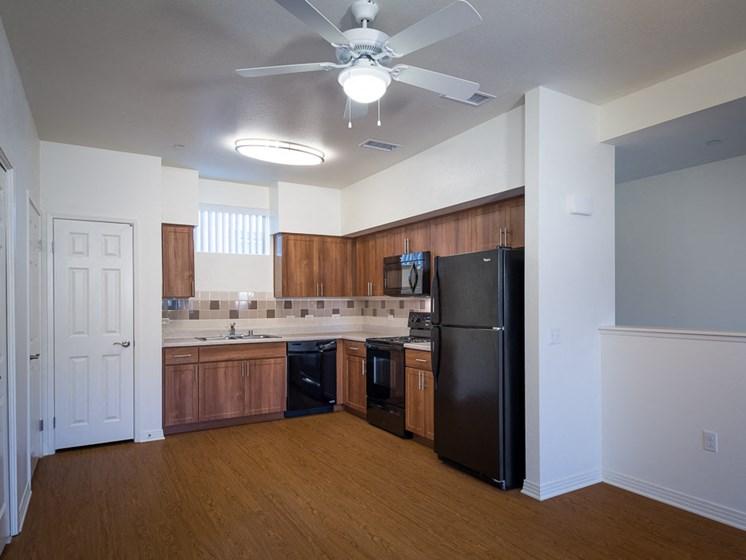 Apartment kitchen area-Rio Vista Apartments, Los Angeles, CA