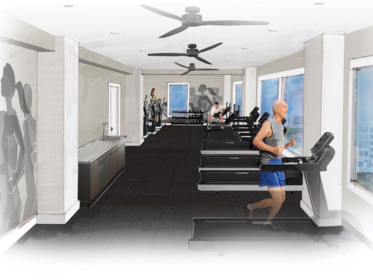 View of fitness center