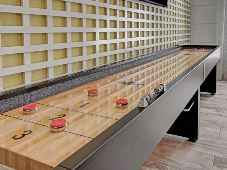Shuffle board at York Woods at Lake Murray Apartment Homes, Columbia, South Carolina