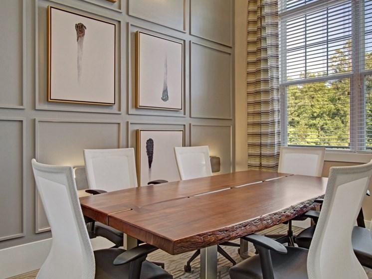Conference room at York Woods at Lake Murray Apartment Homes, Columbia, SC