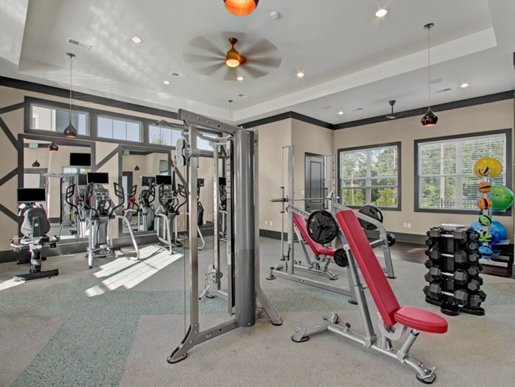 Fitness Center at York Woods at Lake Murray Apartment Homes, Columbia, SC, 29212