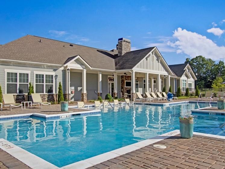 Swimming pool and pool deck at York Woods at Lake Murray Apartment Homes, Columbia, South Carolina