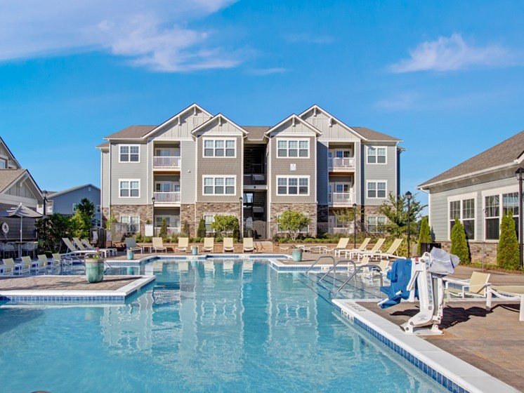 Resort-style swimming pool at York Woods at Lake Murray Apartment Homes, Columbia, 29212