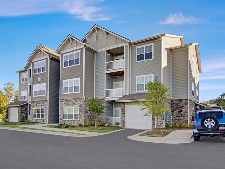 Building Exterior and Garages at York Woods at Lake Murray Apartment Homes, Columbia, South Carolina