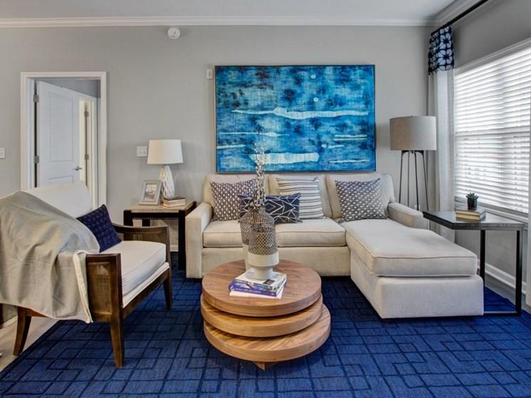 Living Room view at York Woods at Lake Murray Apartment Homes, South Carolina, 29212