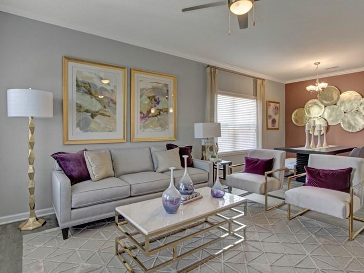 Living Room at York Woods at Lake Murray Apartment Homes, South Carolina