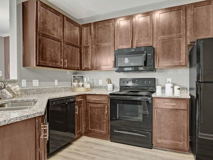 Kitchen at York Woods at Lake Murray Apartment Homes, Columbia