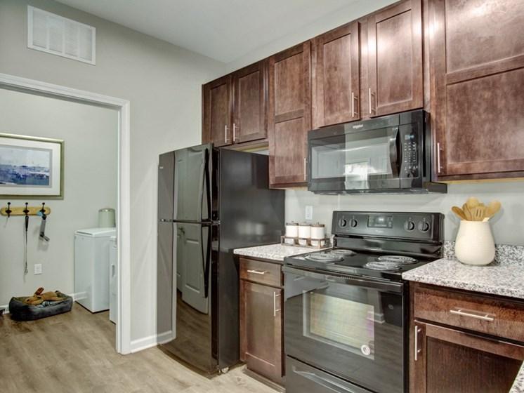 Kitchen view at York Woods at Lake Murray Apartment Homes, Columbia, SC, 29212