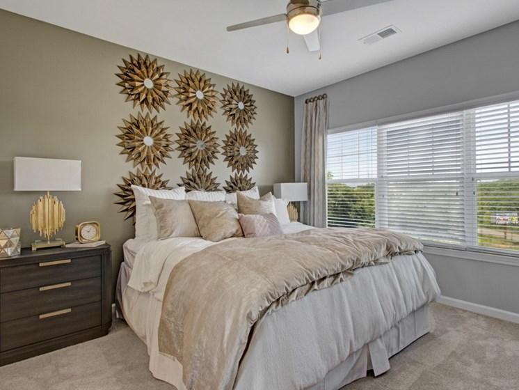 Master bedroom at York Woods at Lake Murray Apartment Homes, Columbia, South Carolina