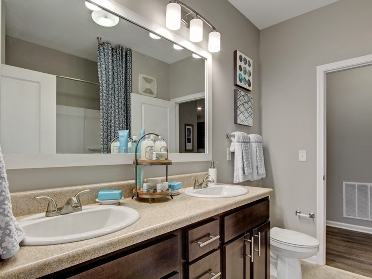 Bathroom at York Woods at Lake Murray Apartment Homes, South Carolina, 29212
