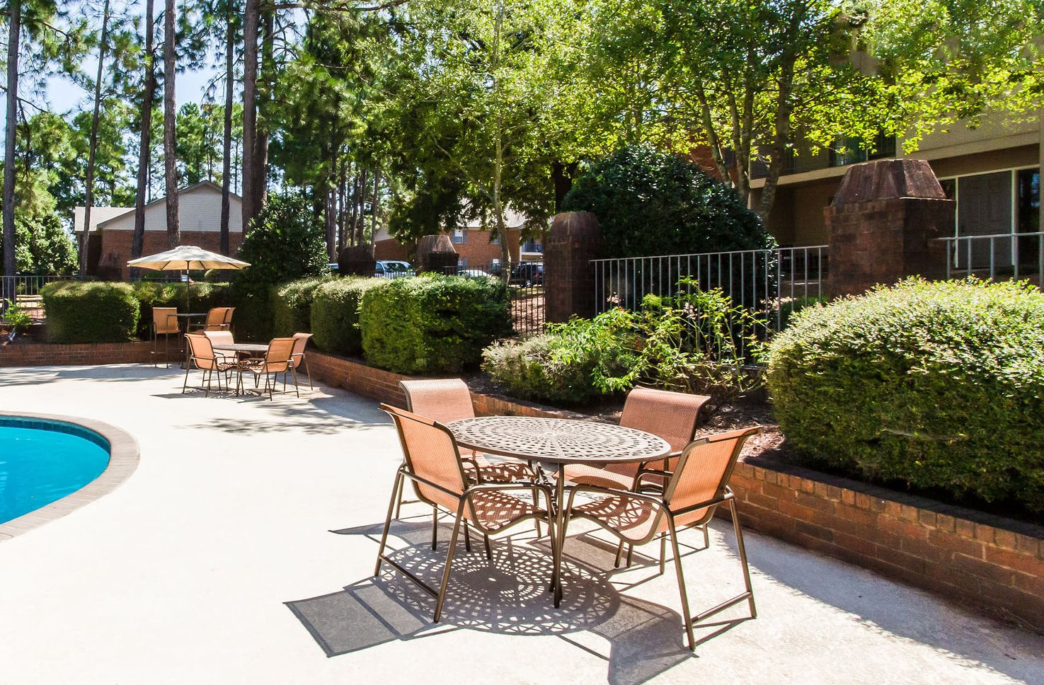 Our community pool at Pinewood at National Hills Apartments