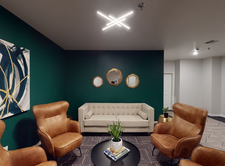 hallway with furniture