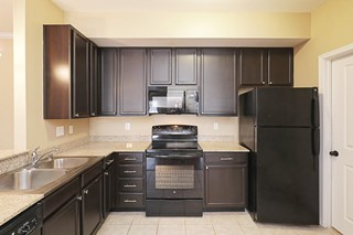 Granit counters is open kitchens