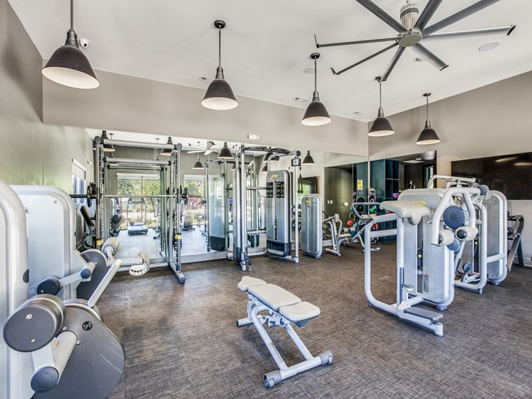 24-Hour Fitness Center featuring Techno Gym & iPod Stations