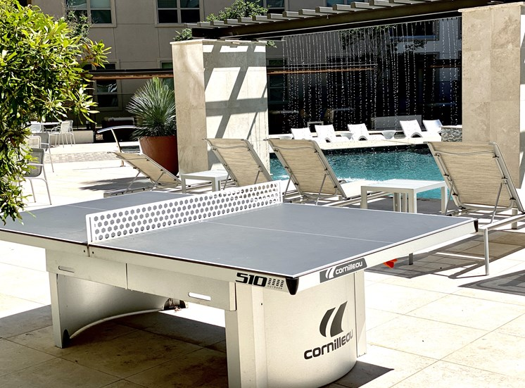 Poolside Ping Pong Table at Domain at the Gate's apartments in Frisco, TX