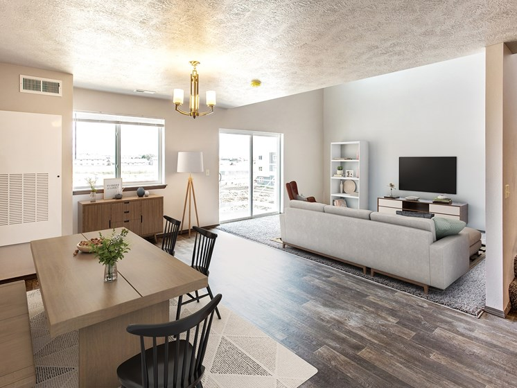 2 Bed staged living/dining