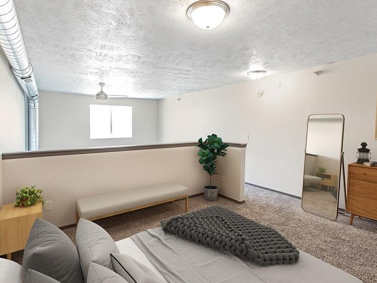 Staged Loft Bedroom