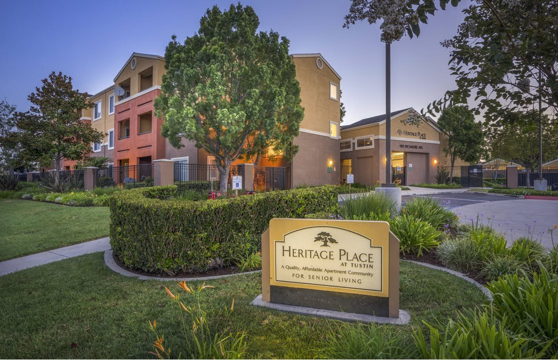 Heritage Place at Tustin sign