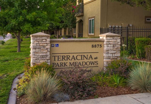 Terracina at Park Meadows sign,Terracina at Park Meadows sign