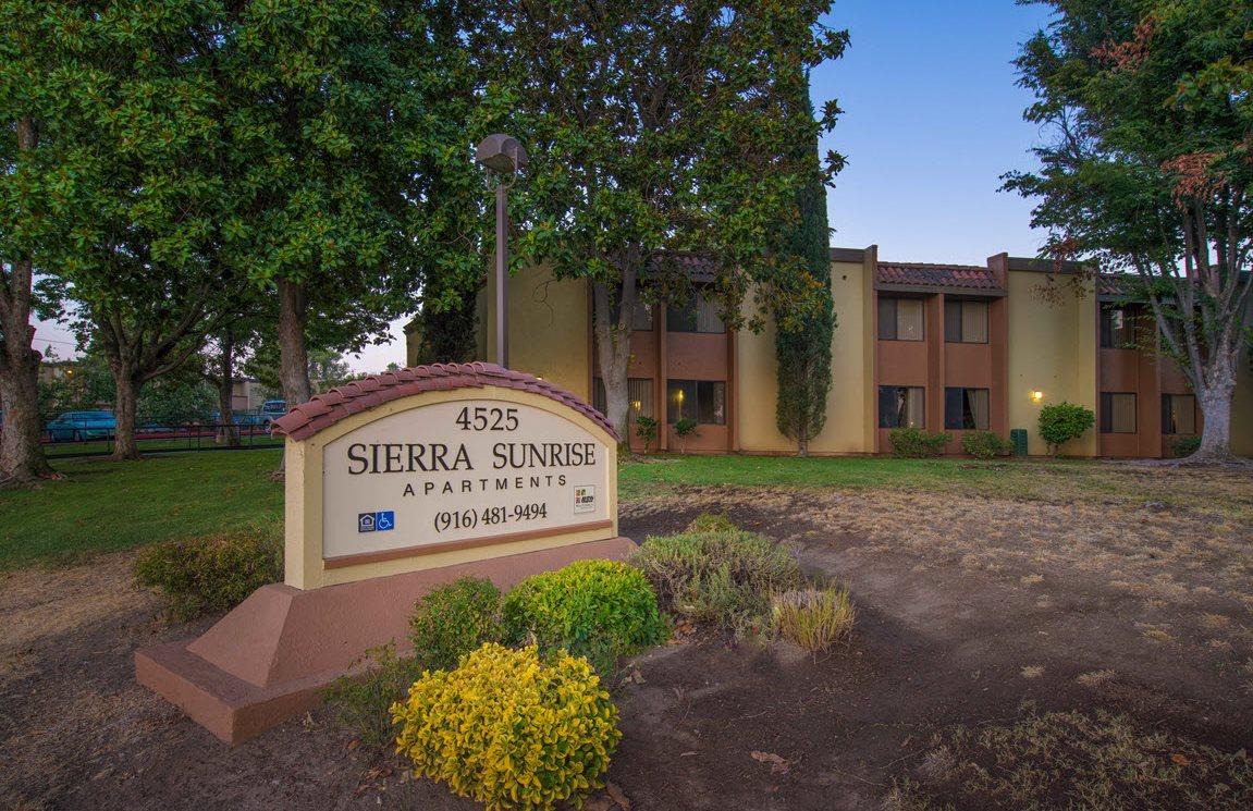 Sierra Sunrise  entrance sign