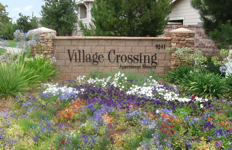 Village Crossing sign