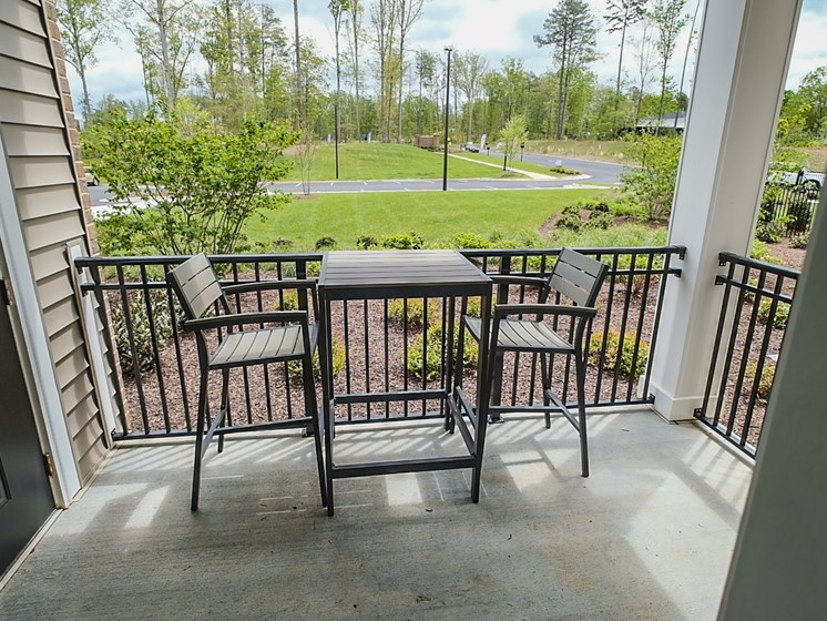 Balcony And Patio at Abberly CenterPointe Apartment Homes by HHHunt, Virginia, 23114