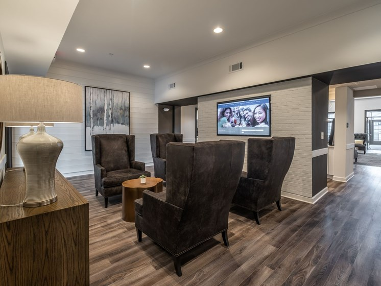 Conference Room In Business Center at Abberly CenterPointe Apartment Homes by HHHunt, Midlothian