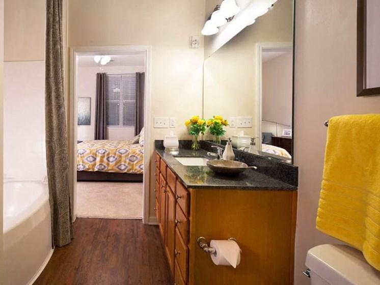 Custom Look Bathroom at Abberly Crest Apartment Homes, HHHunt, Lexington Park, Maryland