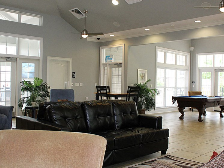 Game Room With Pool And Foosball Tables at Abberly Crest Apartment Homes by HHHunt, Lexington Park, Maryland