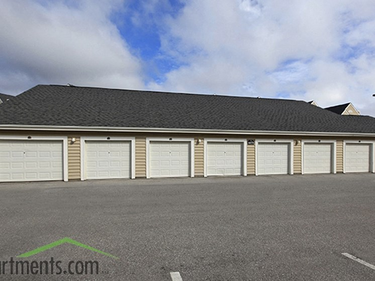 Detached and attached garages at Abberly Crest Apartment Homes by HHHunt, Maryland, 20653