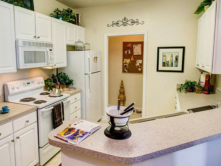 Open Kitchens at Abberly Crest Apartment Homes by HHHunt, Lexington Park, Maryland