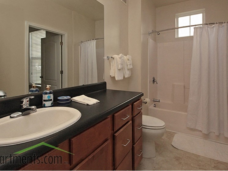 Luxury Bathrooms at Abberly Crest Apartment Homes by HHHunt, Lexington Park