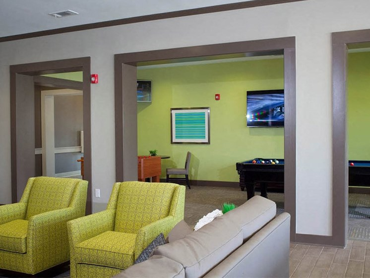 Clubhouse Relaxation Area at Abberly Crest Apartment Homes by HHHunt, Lexington Park