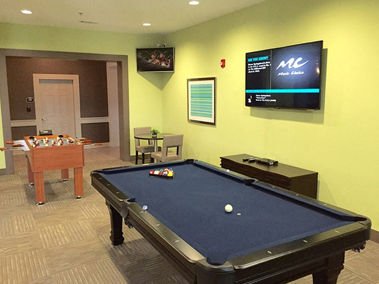 Game Room at Abberly Crest Apartment Homes by HHHunt, Maryland
