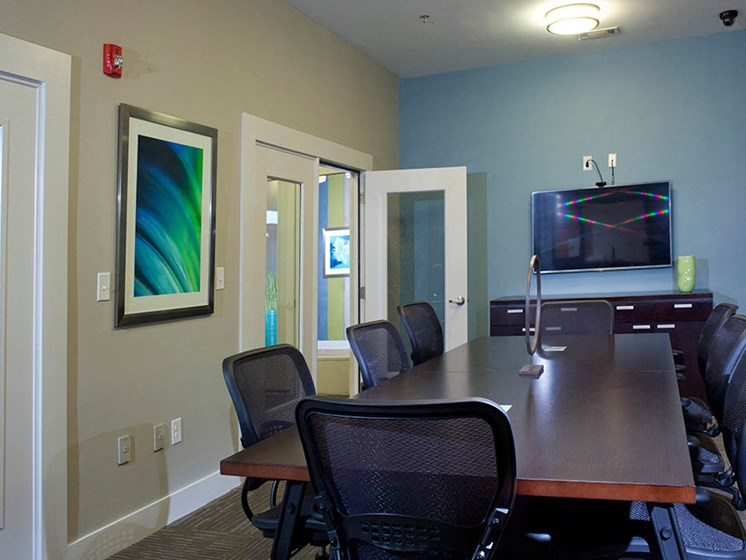 Conference Roomat Abberly Crest Apartment Homes by HHHunt, Lexington Park, MD