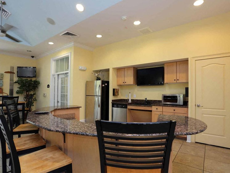 Clubhouse with Kitchen at Abberly Crest Apartment Homes by HHHunt, Lexington Park, Maryland