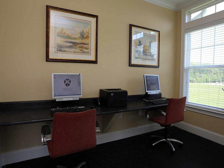 Business Center at Abberly Crest Apartment Homes by HHHunt, Lexington Park, MD